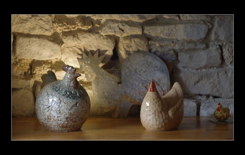 Location de vacances - Gîte à La Cresse - Les poules