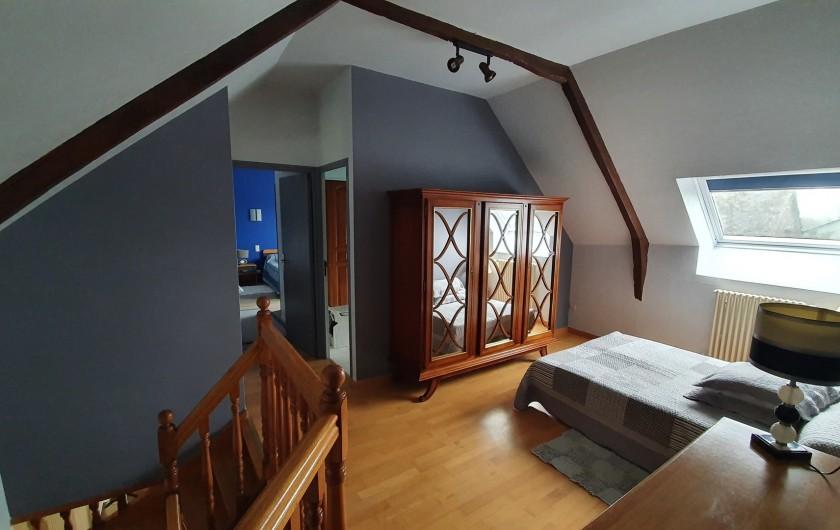 Location de vacances - Gîte à Saint-Gouéno - Mezzanine à l'étage  Mezzanine upstairs  clic clac double / sofa bed for 2